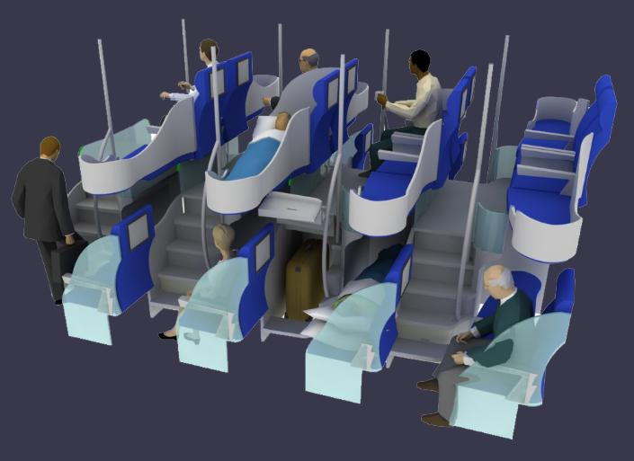 Only Ideal New Designs For Airplane Seating Arrangements